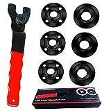 Angle Grinder Wrench Grinder Spanner Wrench Grinder Flange Nut 5/8-11 6 PCS Compatible with Dewalt Milwaukee Metabo Makita Grinder Parts Bosch Ryobi Black Decker