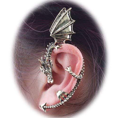 Uteruik Frauen Arbeiten orientalische Drache-Ohrring-Ohr-Stulpe-Klipp-Ohrringe um