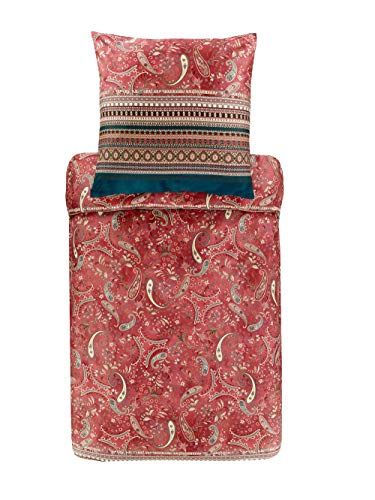 Bassetti Juego de Cama Burano R2 Rojo 200 x 200 cm + 2 x 70 x 90 cm, 200 x 200 + 2 70 x 90 cm