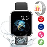 Fitness Tracker Watch - Smartwatch per Uomini Donne Tracker Attività Bluetooth con Cardio...