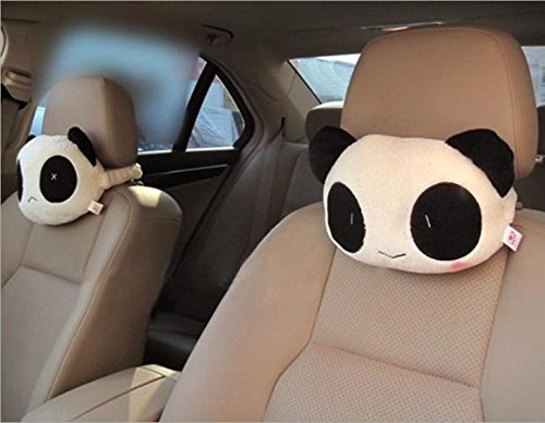 A.B Crew 2 PCS Creative Car Headrest Head Cushion Plush Neck Pillow Lip+Beard