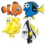 Beistle Assorted Fish Under The Sea Cutouts-4 Pcs, 13.25'-16.75', Multicolor