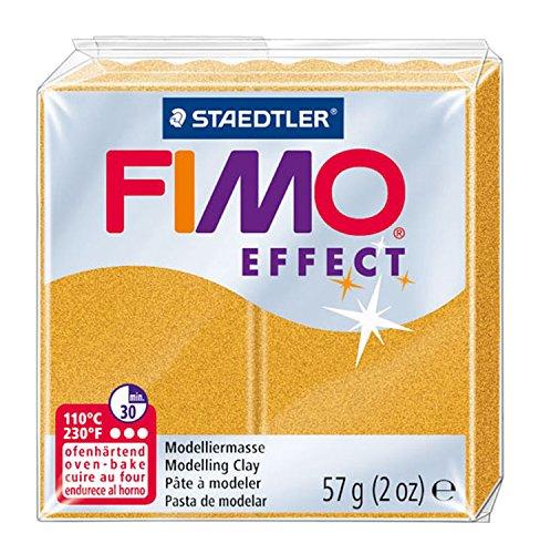 Staedtler 8020-11 - Fimo Effect Normalblock, 57 g, gold metallic