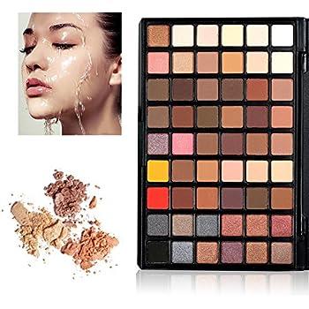Paleta de Colores para Ojos, KRABICE 54 Sombras de Ojos mate ahumado pigmento Glitter Shimmer Maquillaje Paleta de sombra de ojos cosmética de alta calidad ojos paleta de colores - #1: Amazon.es: Belleza