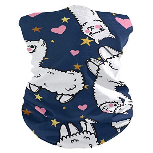 Stoff-Gesichtsmaske für Damen, multifunktional, Bandanas, Schnittmuster, unisex, niedliches Alpaka-Schaf, Stoff-Maske, bedruckbar, für Herren und Damen, Kopfbedeckung, Gesichtshandtuch, waschbar