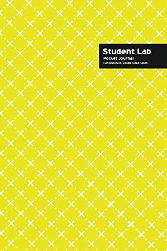 Student Lab Pocket Journal 6 x 9, 102 Sheets, Double Sided, Non Duplicate Quad Ruled Lines, (Yellow)