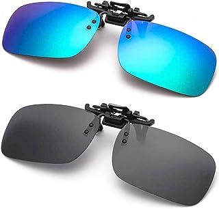 Polarized Clip-on Sunglasses Anti-Glare Driving Glasses for Prescription Glasses