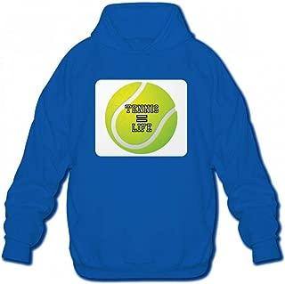 テニスは生命に等しい Men Hoodie Sweater メンズ トップス パーカー アクティブウェア