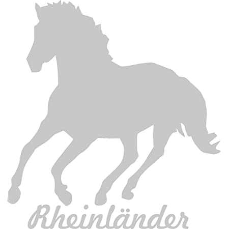 2x Auto Aufkleber Tinker Pferd 2x Car Sticker Konturgeschnitten Ca 11x10 Cm Silber Auto