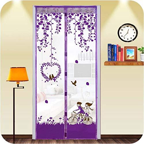 Familienzimmer magnetische Moskito Bildschirm Tür Küchenfenster langlebige europäische Wurzel Gaze Gaze magnetische Mesh Gaze Tür Küche Moskitonetz A1 W110xH210