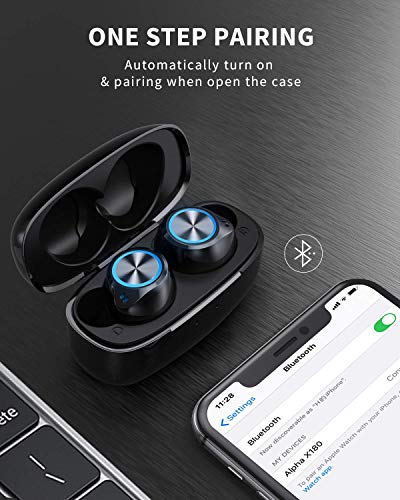 VANKYO Wireless Earbuds X180 in-Ear Bluetooth 5.0 Earphones, USB-C Charging Case, IPX8 Waterproof Sport Headphones with Mic, Touch Control, 30H Playtime for Gym, Home, Office, Single/Twin