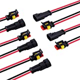 2 Wire Connector, MUYI 5 Kit Electric Connector 18 AWG Connectors Waterproof Electrical Co...