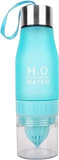 HANTAJANSS H2O Lemon Water Bottles, 18 OZ Tritan Leak Proof Juice Infuser for Sport, Outdoor, Cyclyling, Traveling.