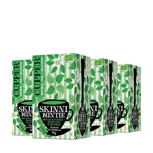 Kräuter-Tee skinny mintie mit Minze & Karamel, aromatisiert (20x2g), 4er Pack