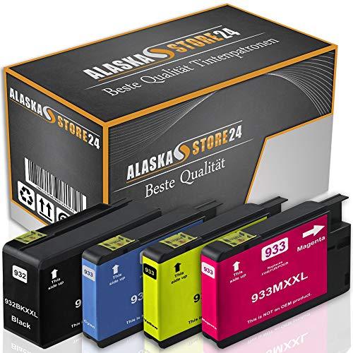 4X Druckerpatronen Komp. Für HP 932 XL 932XL 933 XL 933XL für HP Officejet 6600 6700 6700 Premium 6100 7612 7110 7610 Patronen Tintenpatronen