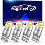 WEIMELTOY 194 LED Car Bulb 3030 Chipset 2SMD T10 194 168 W5W LED Wedge Light Bulb 1.5W 12V License Plate Light Courtesy Step Light Trunk Lamp Clearance Lights(4PCS )