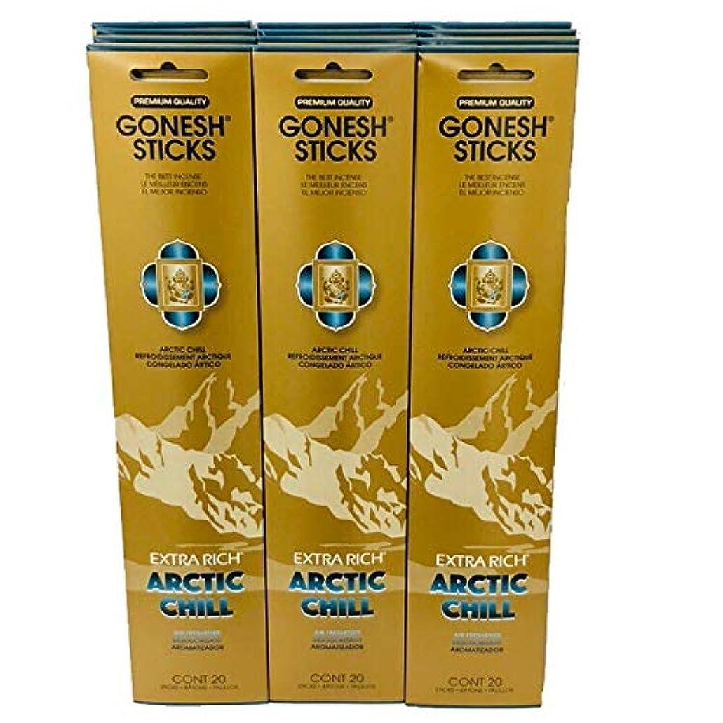 寝室確率うれしいGonesh?–?12?ARCTIC CHILL PACK ( 240?Sticks ) Incense Sticks Extra Richコレクション