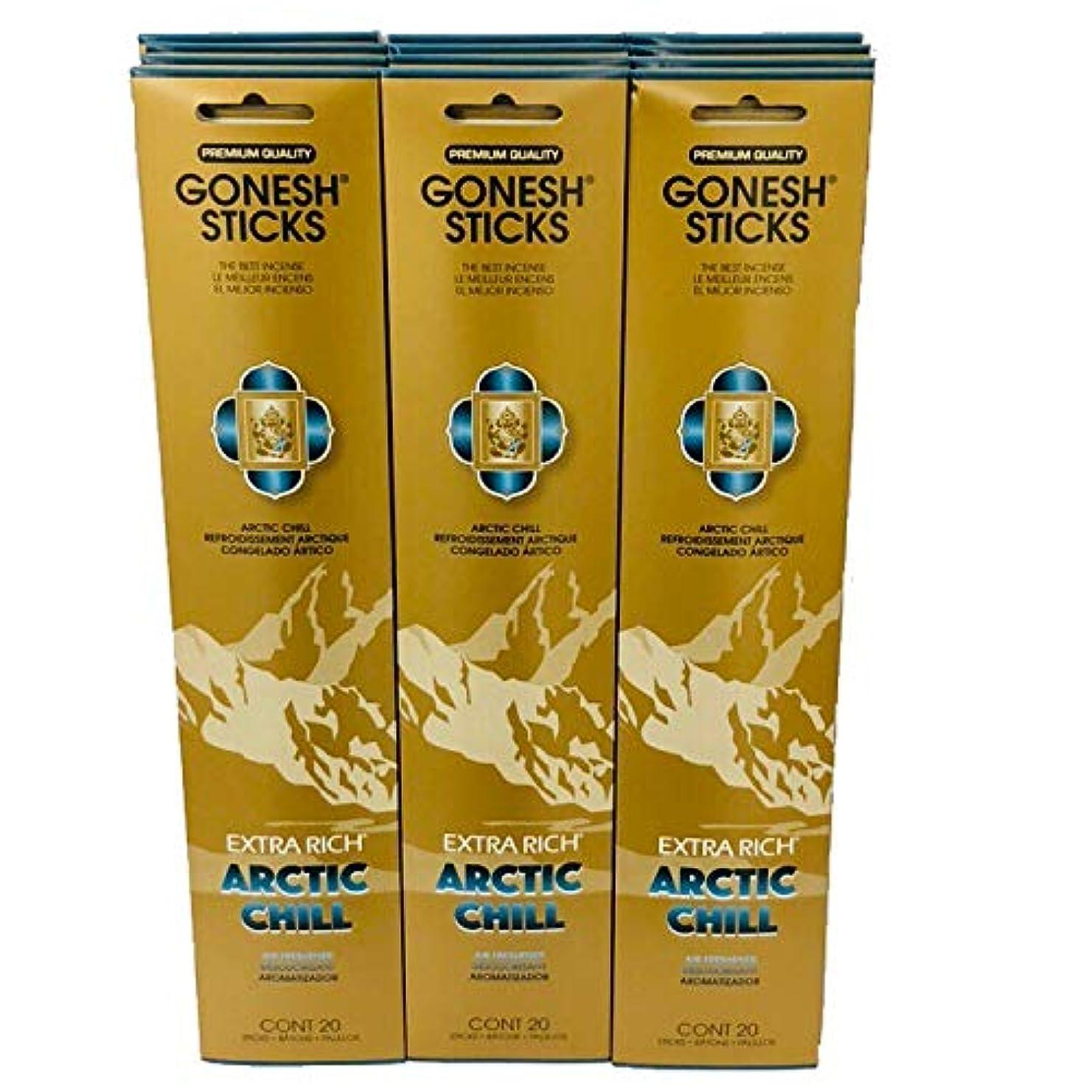 輸送完璧な管理するGonesh?–?12?ARCTIC CHILL PACK ( 240?Sticks ) Incense Sticks Extra Richコレクション