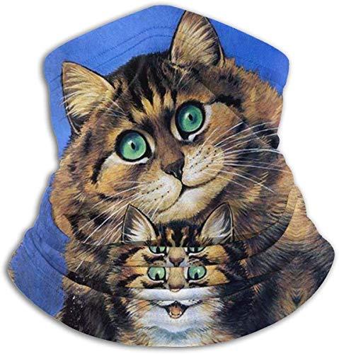 N/A Naadloos Gezichtsmasker Bandanas Nek Warmer Sjaal Gaiter Tegel Mural Pluizige Katten Door Louis Wain Huisdier Kitten Mat Voor Stof Buiten Festivals Sport Winddicht Mannen En Vrouwen