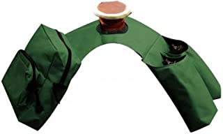 Showman Hunter Green Insulated Cordura Trail Riding Horn Saddle Bag 2 Zipper Pockets and 2 Water Bottle Holders with Water Bottles