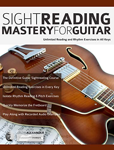 Sight Reading Mastery for Guitar: Unlimited reading and rhythm exercises in all keys...