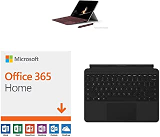 New Microsoft Surface Go (Intel Pentium Gold,4GB RAM/ 128GB) with Microsoft Office 365 Home | 12-month subscription with Auto-renewal, up to 6 people, PC/Mac Download & Surface Go Type Cover (Black)