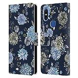 Head Case Designs sous Licence Officielle Ninola Dahlias Fleurit Bleu Modèles Florals Coque en Cuir...