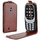 Nokia 3310 Hülle,Nokia 3310 Lederhülle,Handyhülle im Brieftasche-Stil für Nokia 3310.Schutzhülle mit [TPU Innenschale] [Standfunktion] [Kartenfach] [Magnetverschluss]