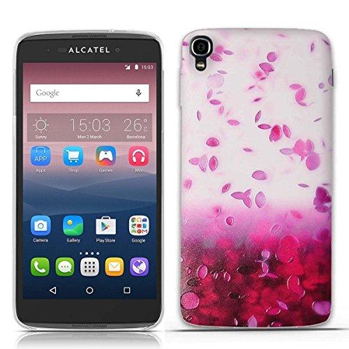 FUBAODA for für Alcatel one Touch Idol 3 (5.5 inch) Hülle, 3D Erleichterung Schöne Blume Muster TPU Hülle Schutzhülle Silikon Hülle für for für Alcatel one Touch Idol 3 (5.5 inch)