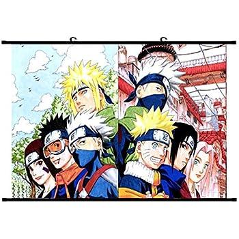 H02 CAR-TOBBY Vintage Cartoon Anime Naruto Affiche Bar Enfants Chambre Home Decor Comics Naruto R/étro Papier Peinture