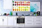 Oedim Vinilo Decorativo Pared Cocinas   Zumos Frutas y Verduras   Decoración Cocinas   125x90cm   Adhesivo Resistente y de Facil Aplicación   Pegatina Adhesiva Decorativa de Diseño Elegante