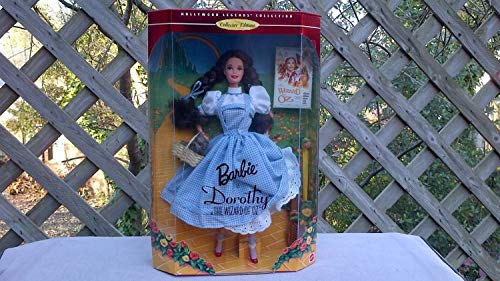 Hollywood Legends Collection, Collector Edition, 1995 Barbie Dorothy in 'The Wizard of Oz' in Box, Never been Opened, Doll Stand and Hairbrush Included, Toto in Basket, Beautiful Art Work; Mattel 12701