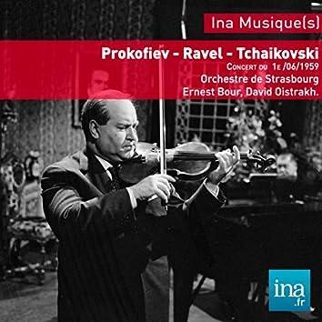 Festival de Strasbourg, Prokoviev - Ravel - Tchaikovsky - Mozart - Bach, Concert du 01/06/1959, Orchestre National de la RTF, Ernest Bour (dir), David Oistrakh (violon)