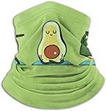 Avocado Yoga Tube Neck Neck Warmer Soft Headwear Face Scarf Cover for Cold Weather Winter Outdoor Sports Black