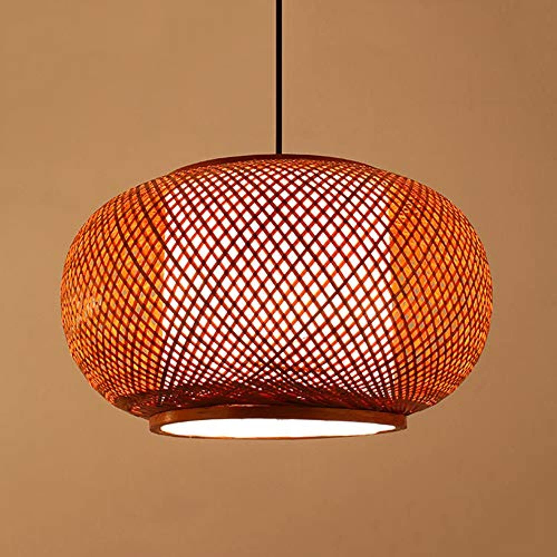 MTCTK Bambus Rattan Bambus Leuchter, kreative Hohle Bambus Kunst Pendellicht, Wohnzimmer Restaurant dekorative Hngelampe,S