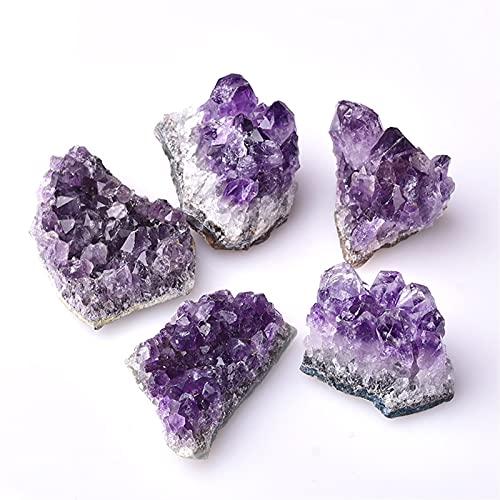 WXJ 1 PC Cuarzo de clúster de Cristal Natural de Amatista, Cristales crudos de Piedra curativa para decoración (Color : Random Delivery, Size : 1PC)