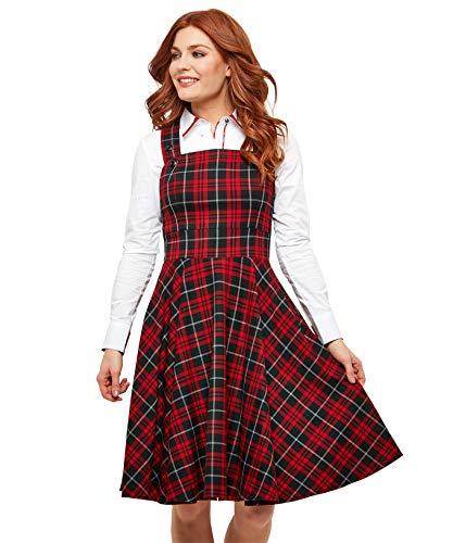 Joe Browns Pretty Pinafore Dress Vestido, Rojo (Red/Black A), 40 (Talla del Fabricante: 12) para Mujer