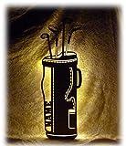 Unbekannt Schlummerlicht24 Led Holz Golfschläger Golftasche mit Name für das Wohnzimmer Schlafzimmer Flur Geschenke individuell personalisiert