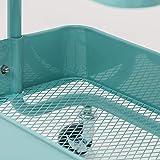 WOLTU Küchenwagen Rollwagen Servierwagen Küchentrolley Metall Roll Regal für Küche Bad Büro mit Rollen 3 Etagen Mint RW005mt - 6