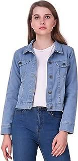 Shabana Creation Full Sleeves Comfort Fit Regular Collar Blue Jacket for Women