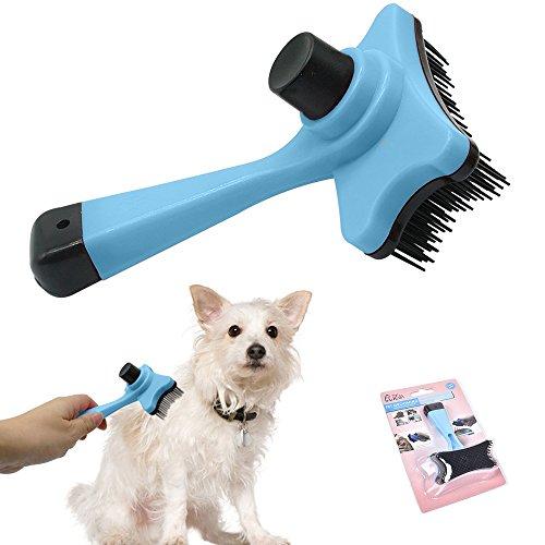 Bason Hundebürste katzenbürste,Kurz bis Langhaar geeignet, Kleine - große Tiere, Schnelle Reinigung