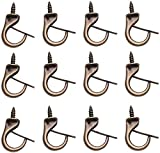 2IN Safety Cup Windproof Hooks,15 Pieces Metal Ceiling Hooks Heavy Duty Windproof Metal Hooks Screw Outdoor Indoor Porch Bathroom Kitchen Wall Hang Hooks Set for Coffee Tea Cup, Plant, Light, Mug
