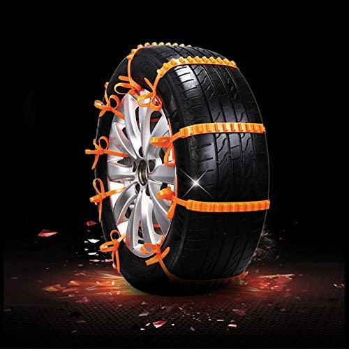 BekeLIN Schneeketten, 10 Stück, rutschfest, für Reifen, tragbar, einfach zu montieren, Notfall-Traktionsketten, universell für Reifenbreite 145–295 mm (20PC (Empfehlen))