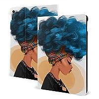 Ipad 10.5 ケース/Ipad 10.2ケース タブレットケース 青い髪 ヘアスタイルのギャラクシー Tpu 耐衝撃 超薄 軽量 傷防止 全面保護型 収納可能 手帳型 オートスリープ/ウェイク 三つ折りスタンド スマートケース