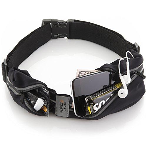 sport2people Marsupio Running Porta Cellulare per iPhone X 6 7 8 Plus - Cintura Uomo e Donna da Corsa – Portacellulare per Correre di Alta qualità – Accessori Running per Donna Uomo e Bambini