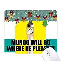 彼がどれを喜ばせるかについて、Mundoは呉を言います! ゲーム用スライドゴムのマウスパッドクリスマス