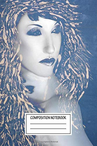 Composition Notebook: Fashion Desdemona Blue Self Dreamscapes Wide Ruled Note Book, Diary, Planner, Journal for Writing