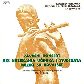 Završni Koncert Xix Natjecanja Učenika I Studenata Muzike Sr Hrvatske