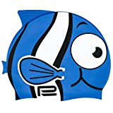 Prosske Bonnet de bain pour enfant Motif poisson, Blau1