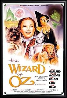 The Wizard of Oz Movie Poster International Version Framed (Black) Size 24x36